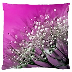 Dandelion 2015 0708 Large Flano Cushion Cases (two Sides)  by JAMFoto