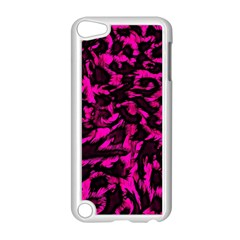 Extreme Pink Cheetah Abstract  Apple Ipod Touch 5 Case (white) by OCDesignss