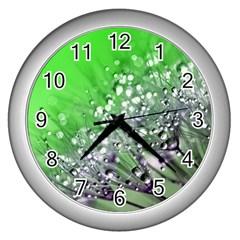 Dandelion 2015 0716 Wall Clocks (silver)  by JAMFoto