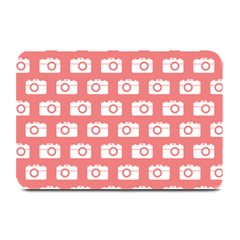 Modern Chic Vector Camera Illustration Pattern Plate Mats by creativemom