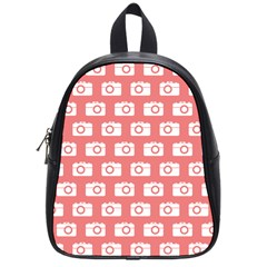 Modern Chic Vector Camera Illustration Pattern School Bags (small)  by creativemom