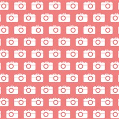 Modern Chic Vector Camera Illustration Pattern Magic Photo Cubes by creativemom