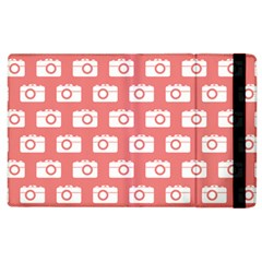 Modern Chic Vector Camera Illustration Pattern Apple Ipad 3/4 Flip Case by creativemom