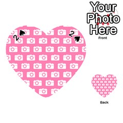 Pink Modern Chic Vector Camera Illustration Pattern Playing Cards 54 (heart)  by creativemom