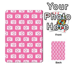 Pink Modern Chic Vector Camera Illustration Pattern Multi Purpose Cards (rectangle)  by creativemom