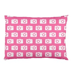 Pink Modern Chic Vector Camera Illustration Pattern Pillow Cases by creativemom