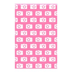 Pink Modern Chic Vector Camera Illustration Pattern Shower Curtain 48  x 72  (Small)  by creativemom