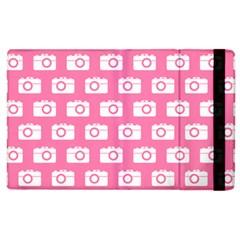 Pink Modern Chic Vector Camera Illustration Pattern Apple Ipad 3/4 Flip Case by creativemom