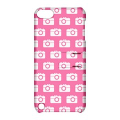 Pink Modern Chic Vector Camera Illustration Pattern Apple Ipod Touch 5 Hardshell Case With Stand by creativemom