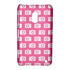 Pink Modern Chic Vector Camera Illustration Pattern Nokia Lumia 620 by creativemom