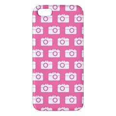 Pink Modern Chic Vector Camera Illustration Pattern Iphone 5s Premium Hardshell Case by creativemom