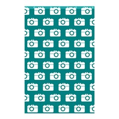 Modern Chic Vector Camera Illustration Pattern Shower Curtain 48  X 72  (small)  by creativemom