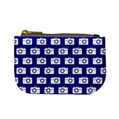 Modern Chic Vector Camera Illustration Pattern Mini Coin Purses