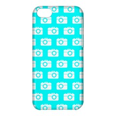 Modern Chic Vector Camera Illustration Pattern Apple Iphone 5c Hardshell Case by creativemom