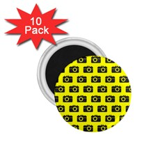 Modern Chic Vector Camera Illustration Pattern 1 75  Magnets (10 Pack)  by creativemom
