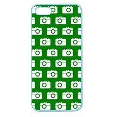 Modern Chic Vector Camera Illustration Pattern Apple Seamless Iphone 5 Case (color) by creativemom