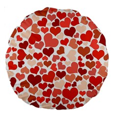 Heart 2014 0901 Large 18  Premium Round Cushions