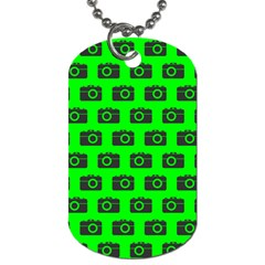 Modern Chic Vector Camera Illustration Pattern Dog Tag (two Sides) by creativemom