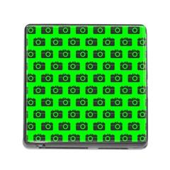 Modern Chic Vector Camera Illustration Pattern Memory Card Reader (square) by creativemom
