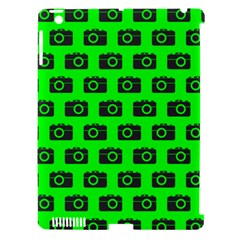 Modern Chic Vector Camera Illustration Pattern Apple Ipad 3/4 Hardshell Case (compatible With Smart Cover) by creativemom