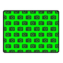 Modern Chic Vector Camera Illustration Pattern Double Sided Fleece Blanket (small)  by creativemom