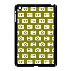 Modern Chic Vector Camera Illustration Pattern Apple Ipad Mini Case (black) by creativemom