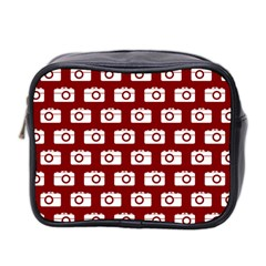 Modern Chic Vector Camera Illustration Pattern Mini Toiletries Bag 2 Side by creativemom
