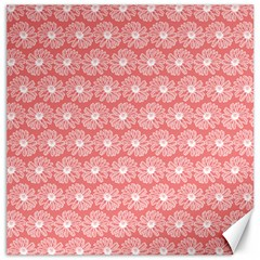 Coral Pink Gerbera Daisy Vector Tile Pattern Canvas 20  X 20   by creativemom
