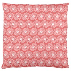 Coral Pink Gerbera Daisy Vector Tile Pattern Large Cushion Cases (two Sides)  by creativemom