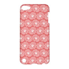 Coral Pink Gerbera Daisy Vector Tile Pattern Apple Ipod Touch 5 Hardshell Case by creativemom
