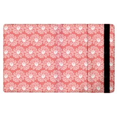 Coral Pink Gerbera Daisy Vector Tile Pattern Apple Ipad 3/4 Flip Case by creativemom