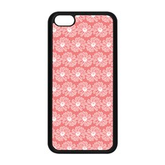 Coral Pink Gerbera Daisy Vector Tile Pattern Apple Iphone 5c Seamless Case (black) by creativemom