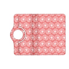 Coral Pink Gerbera Daisy Vector Tile Pattern Kindle Fire Hd (2013) Flip 360 Case by creativemom