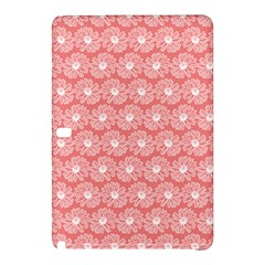 Coral Pink Gerbera Daisy Vector Tile Pattern Samsung Galaxy Tab Pro 12.2 Hardshell Case by creativemom