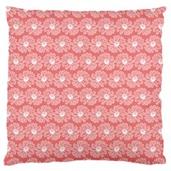 Coral Pink Gerbera Daisy Vector Tile Pattern Large Flano Cushion Cases (one Side)  by creativemom