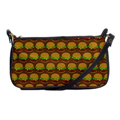 Burger Snadwich Food Tile Pattern Shoulder Clutch Bags by creativemom