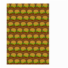 Burger Snadwich Food Tile Pattern Small Garden Flag (two Sides) by creativemom