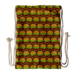Burger Snadwich Food Tile Pattern Drawstring Bag (large) by creativemom