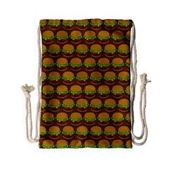 Burger Snadwich Food Tile Pattern Drawstring Bag (small) by creativemom