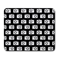 Modern Chic Vector Camera Illustration Pattern Large Mousepads by creativemom