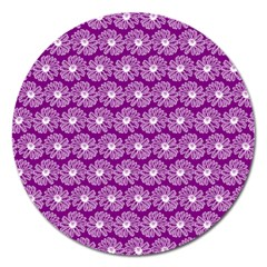 Gerbera Daisy Vector Tile Pattern Magnet 5  (round) by creativemom