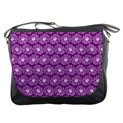 Gerbera Daisy Vector Tile Pattern Messenger Bags by creativemom