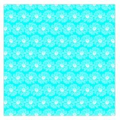 Gerbera Daisy Vector Tile Pattern Large Satin Scarf (Square)