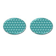 Gerbera Daisy Vector Tile Pattern Cufflinks (oval) by creativemom
