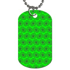 Gerbera Daisy Vector Tile Pattern Dog Tag (one Side) by creativemom