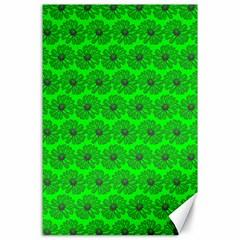 Gerbera Daisy Vector Tile Pattern Canvas 24  X 36  by creativemom