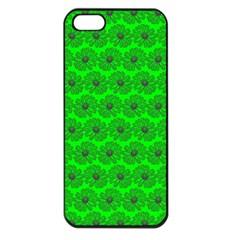 Gerbera Daisy Vector Tile Pattern Apple Iphone 5 Seamless Case (black) by creativemom