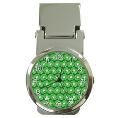 Gerbera Daisy Vector Tile Pattern Money Clip Watches by creativemom