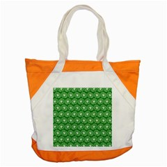Gerbera Daisy Vector Tile Pattern Accent Tote Bag