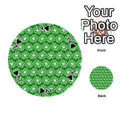 Gerbera Daisy Vector Tile Pattern Playing Cards 54 (round)